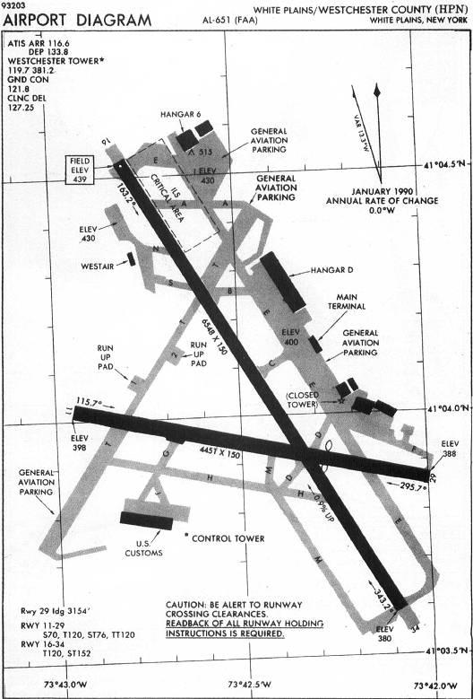 iap chart - airport diagram  westchester